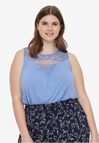 Junarose blue Plus Size Marila Sleeveless Top 6574FAA615931FGS_1