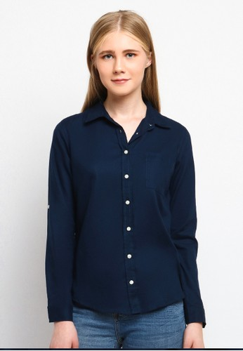 C2 Outfitters navy Elzada Navy Classic Shirt 719A0AA7600D60GS_1