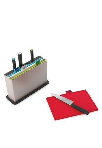 Joseph-Joseph grey Index Chopping Board with Knives 7BD36HL7AC539CGS_1
