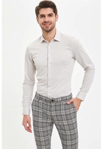 DeFacto grey Man Woven Long Sleeve Shirt 742BBAA415286DGS_1