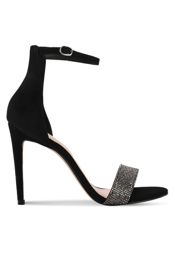 ALDO black Kedurith Heeled Sandals C7C7FSHFAE8CC1GS_1