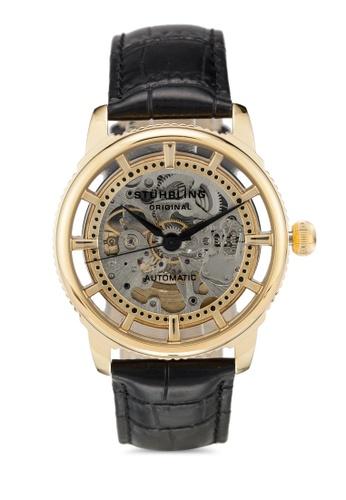 Stuhrling Original black Winchester Skeleton 393.333531 Watch 02F58AC57C3D7BGS_1