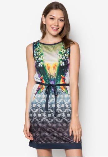Nebelesprit 鞋 印花繫帶連身裙, 服飾, 短洋裝