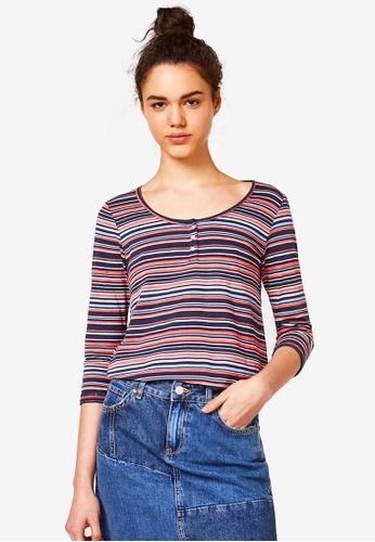 ESPRIT multi 3/4 Sleeve T-Shirt 585E7AA5369DDDGS_1