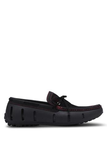 Knight black Mesh Boat Shoes KN875SH0RX3OMY_1