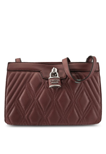 Guess purple Crossbody Top Zip Sling Bag GU020AC0S7LLMY_1