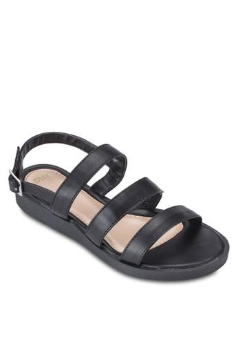 多帶繞esprit 台北踝厚底涼鞋, 女鞋, 鞋