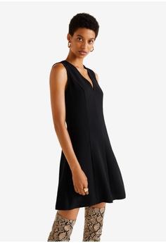 13cc4bc816 Mango black V-Neckline Dress 38C3BAAB2EA528GS 1