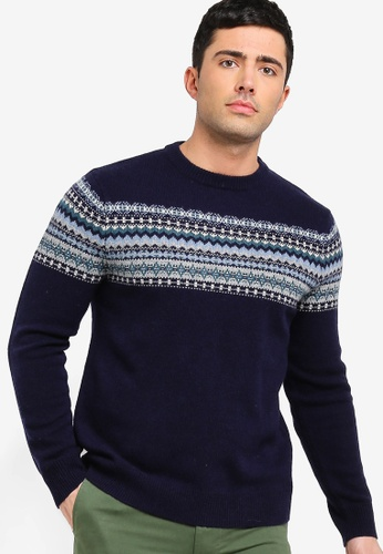 e084eb623 Buy J.Crew Classic Lambswool Odin Chest Fairisle Sweater Online on ...