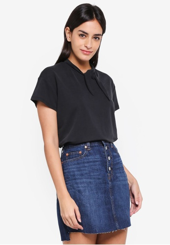 ESPRIT black Short Sleeve Top F53F3AA0E644BBGS_1