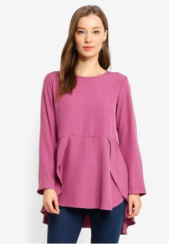 Aqeela Muslimah Wear purple Butterfly Top 56E44AACC0107CGS_1