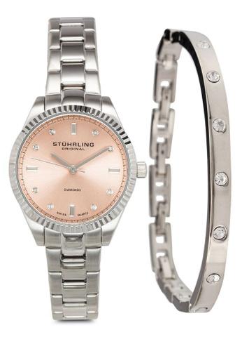 Stuhrling Original silver Legacy 977M Watch Set 28BDCAC9FAE206GS_1