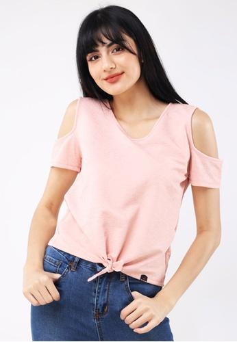 Hotkiss orange Special Fabric Short Sleeve Blouse 5CBDBAAD0610B3GS_1