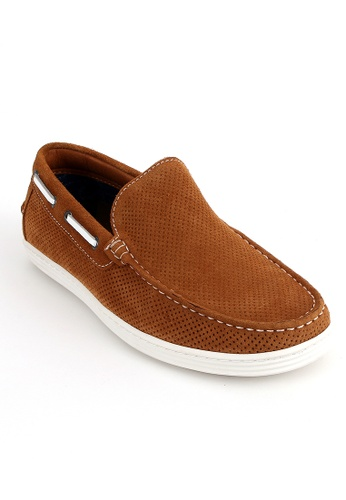 East Rock brown Rowlock Loafers 3F5BESHCF5A7F3GS_1
