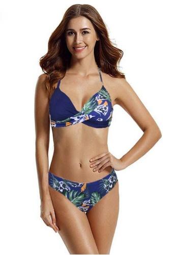 Twenty Eight Shoes navy VANSA Colourblock Bikini Swimsuit VCW-Sw890 7682FUS9A355DCGS_1