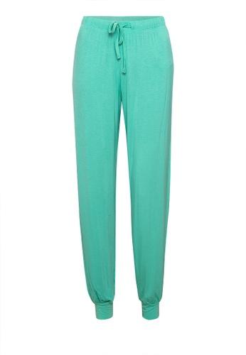 MARKS & SPENCER green Jersey Pyjama Trousers 50EB2AAE2F11F0GS_1