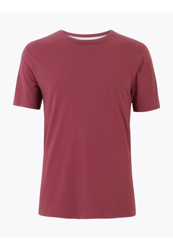 MARKS & SPENCER M&S Pure Cotton Crew Neck T-Shirt 4AA6DAACB35370GS_1