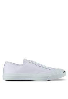 e73fad1f3cc0 Converse white Jack Purcell Leather Ox Sneakers CO302SH33BMWSG 1