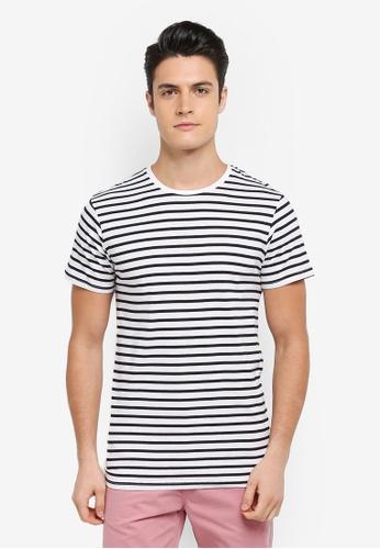Cotton On 黑色 and 白色 條紋短袖T恤 FB194AAD7C1421GS_1
