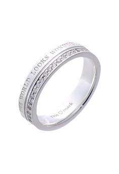 Wonderful World Silver Ring with Artificial Diamonds for Women lr0023f