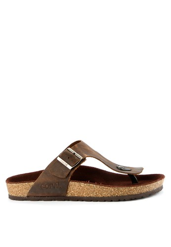 CARVIL brown Carvil Leather Sandal Men Amazon-01M Khaki 0D853SHA0B198CGS_1