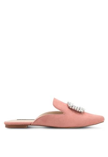 ZALORA pink Embelished Slip On Mule 7E00DZZ72B3086GS_1