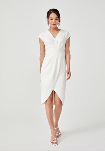Love, Bonito white Valerie Tulip Midi Dress 7A766AA8C657ACGS_1