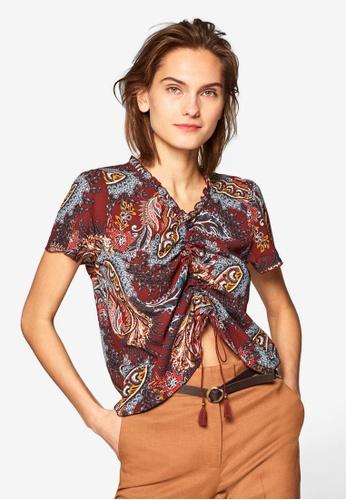 97e06bc4bae42 Buy ESPRIT Woven Short Sleeve Blouse Online on ZALORA Singapore