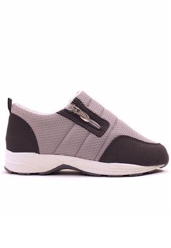 Crystal Korea Fashion 灰色 韓國制柔軟舒適輕便休閒鞋 B9B62SHE3F1F38GS_1
