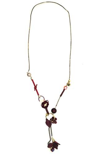 Istana Accessories red Kalung Adalia Long Fashion Neklace - Merah E2536AC4328689GS_1