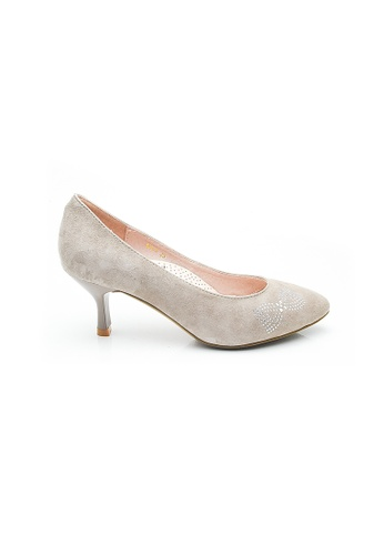 Elisa Litz grey Rebecca Low Heels (Grey) 15665SHBB3A28EGS_1