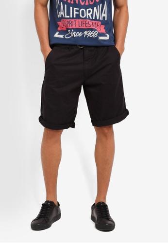 ESPRIT 黑色 Woven Regular Shorts 8490EAAEFD304AGS_1