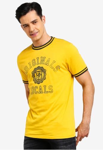 Jack & Jones yellow Jorlock T-Shirt 0D386AACECF3BFGS_1