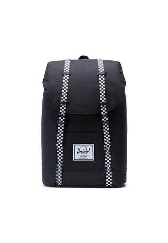 wylot najlepsze buty buty na tanie Herschel Retreat Backpack Black/ Checkerboard - 19.5L
