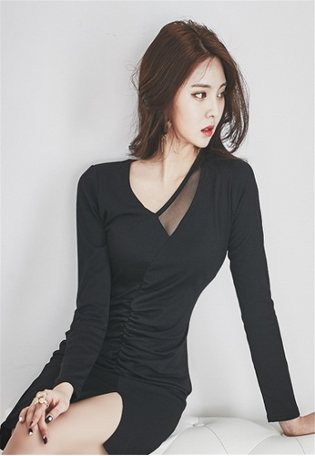 50e69dec1811b Crystal Korea Fashion black Autumn And Winter New Sexy Tight Skinny Dress  5004DAA4824B40GS_1