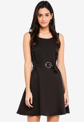 ZALORA black Strappy Buckle Detail Dress 1C171AAD692D54GS_1