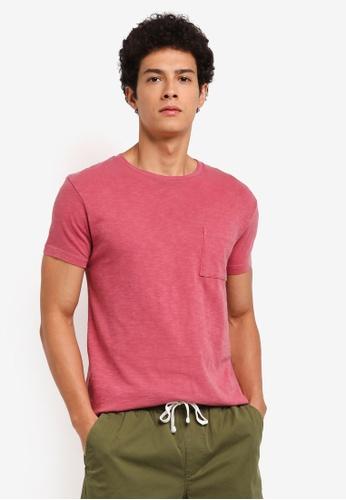 J.Crew red Men's Slim Garment Dye Slub Jersey Tee 8E4E6AA6B0A305GS_1