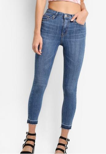 TOPSHOP blue Moto Let Hem Blue Jamie Jeans TO412AA58NOVMY_1