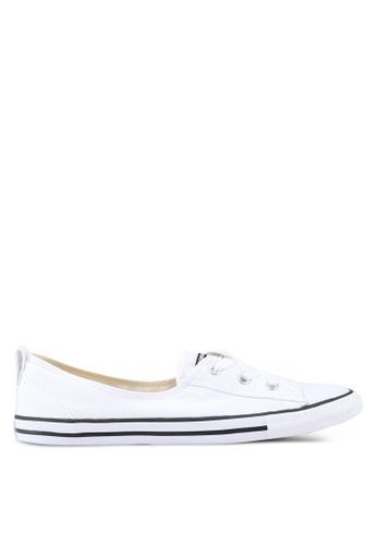 Converse white Chuck Taylor All Star Ballet Lace Core Slip Ons 270FBSHF3A7FBDGS_1