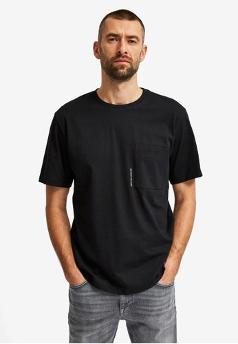Selected Homme black Freddie Relax Pocket Tee 8FD88AA5F81E39GS_1