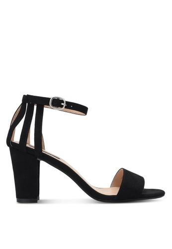 ZALORA black Back Strappy Heels 4B218SH85E92B1GS_1