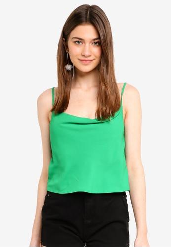 Supre green Naomi Cowl Neck Top 47234AA1C5FEF1GS_1