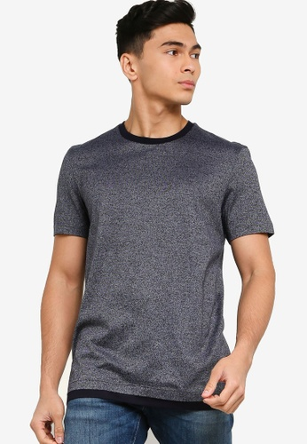 BOSS blue Tessler Mercerised T Shirt EE815AAAEE5FFCGS_1