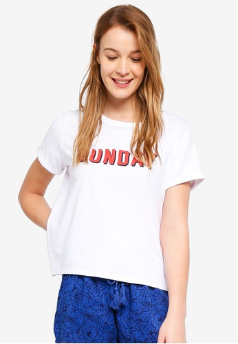 Cotton On Body white Match Back Split Tee F6D55AA77CCBB6GS_1
