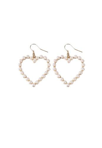 Mellow gold Pearl Heart Earrings AF8DEAC11368B6GS_1