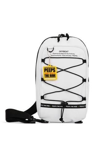 Peeps white Offbeat String Sling Bag 5549AAC6DC28D0GS_1