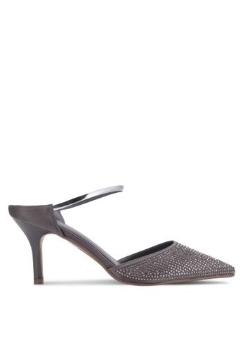 VINCCI grey Pointed Toe Heels VI831SH0RT73MY_1