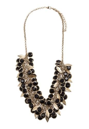 Gold esprit台灣網頁Leaves & Beads Bib Necklace, 飾品配件, 項鍊