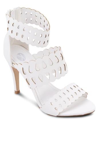Hezalora 心得 pttrmes 鏤空繞踝高跟鞋, 女鞋, 鞋