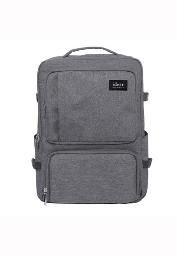 ideer grey Noland Misty Grey DSLR Camera Travel Backpack ID960AC35TBCHK_1